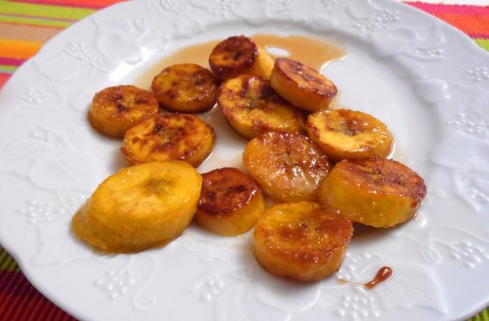 Bananes plantains au sirop d'érable