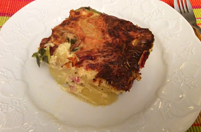 Gratin courgettes & pommes de terre